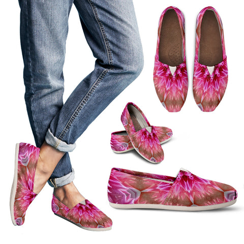 Pink Flower Kaleidoscope Casual Shoes