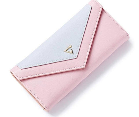 Women Geometric Envelope Clutch Wallet
