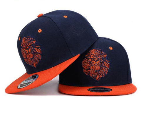 Lion Face Snapback Hip Hop Cap