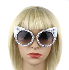 Diamond Cat Eye Designer Sunglasses