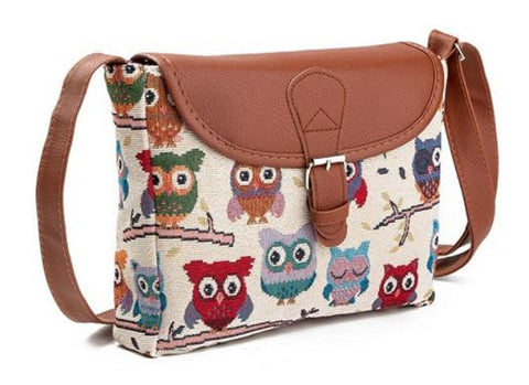 Free Love Owls Women Messenger Handbags