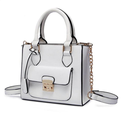 Women Candy Color  Leather Bow Handbag