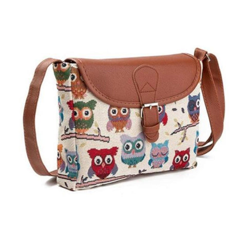 Love Owls Women Messenger Handbags