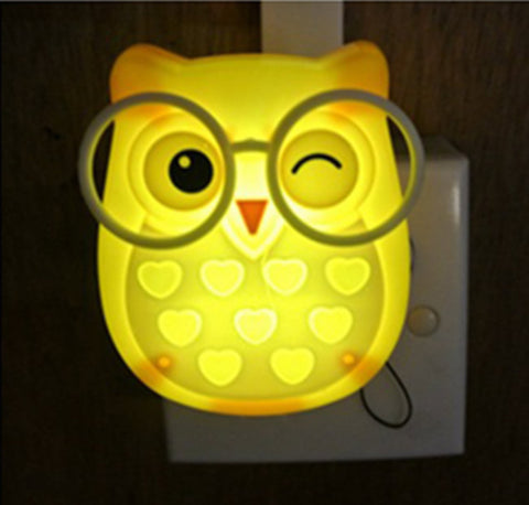 Cute Owl Wall Night Light