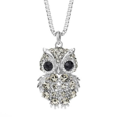 Retro Owl Vintage Rhinestone Necklaces - Free Plus Shipping Promotion