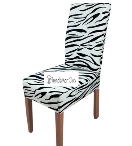 Zebra Leopard Stretch Chair Cover - Free Plus Shipping Promotion