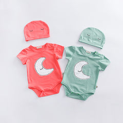2pcs Lovely Baby Rompers Set