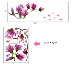 FREE 3D Flower Wall Home Decor Stickers