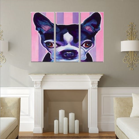 Love My Chihuahua Framed Canvas