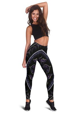Women's Floral Fractal Leggings