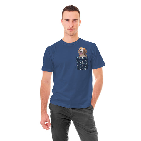 Personalized Custom Pocket T-shirt - Add Your Own Picture