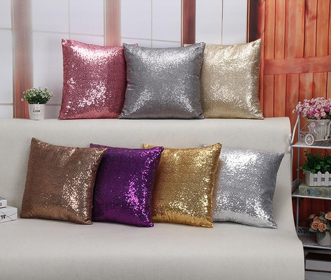 Glitter Sequin Throw Pillow Covers