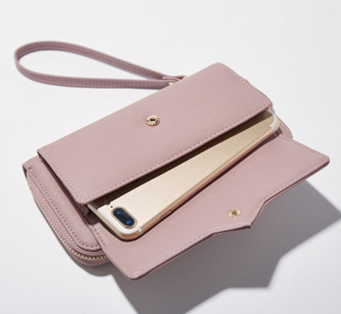 Women Long Clutch Wallet With Phone Pocket