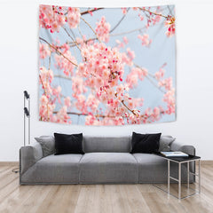 Pink Blossoms Tapestry