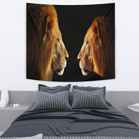 The Lion And The Lioness Tapestry