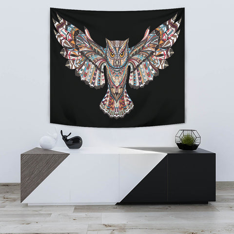 Fierce Owl Tapestry