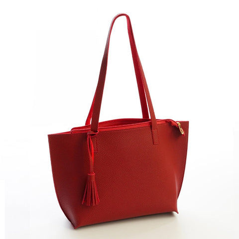 Women's Tassel Tote Shoulder Bag