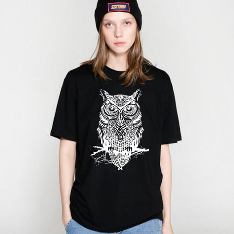 Cool Owl Cotton T-Shirt