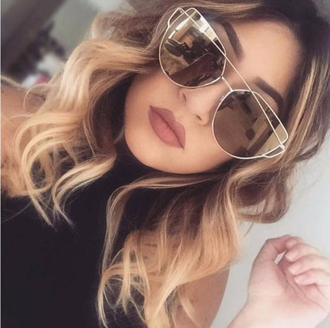 FREE Designer Cat Eye Mirror Sunglasses
