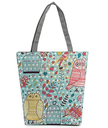 FREE Colorful Owl Printed Casual Tote Handbag