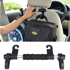Car Back Seat Double Hanger With Handrail