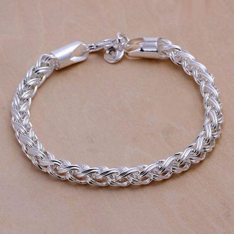 FREE Silver Creative Link Chain Bracelets