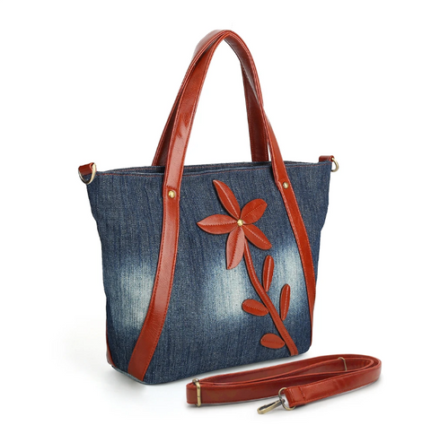 Denim Jean Tote Shoulder Bag