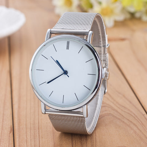 FREE Women's Classic Stainless Steel Mesh Quartz Watches