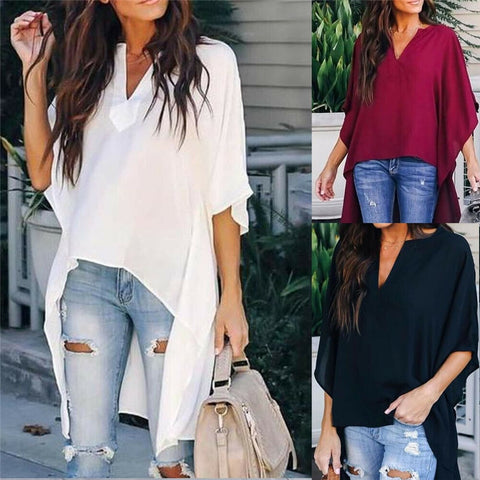 Women Chiffon Loose Casual Blouse