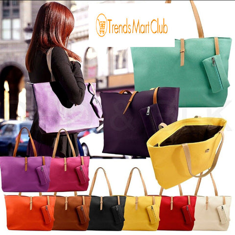 New Tote Faux Leather Fashion Shoulder Bag