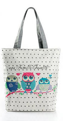 Owl Floral Summer Beach Bag