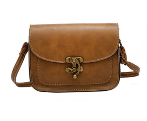 Free Women Leather Fashion Lock Handbag