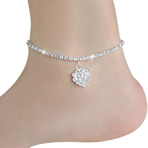 Women Heart shape Ankle Bracelet - Free + Shipping