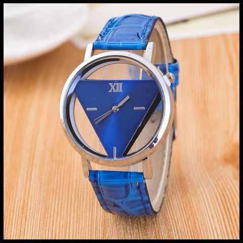 Women Elegant Hollow Triangle Watches