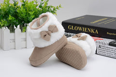 Baby Girl Super Warm Bow Booties