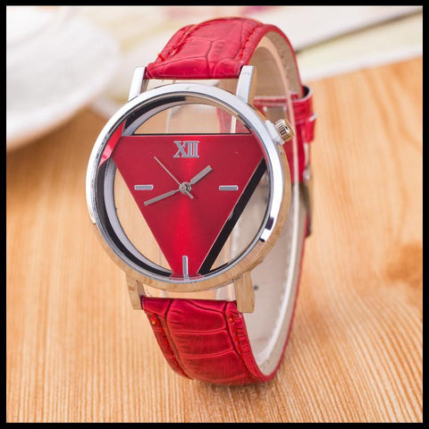 FREE Women Elegant Hollow Triangle Watches