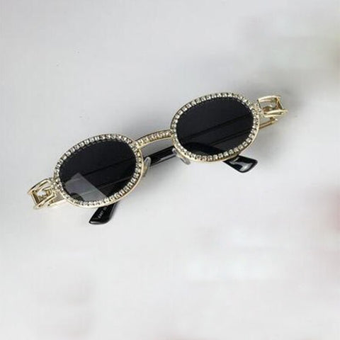 Diamond Sunglasses Women Steampunk Multicolor Rhinestone Shades UV400 Oculos