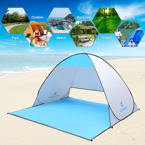 Beach Tent For 1-2 Person Automatic Instant Pop Up 90% UV-Protective