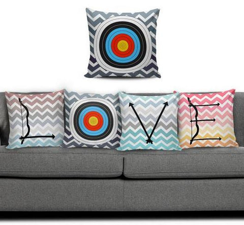 LOVE Archery Pillow Set - Free Plus Shipping Promotion