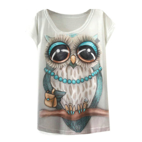 LOVE OWL PRINT WOMEN T-SHIRT - FREE PLUS SHIPPING PROMOTION 2