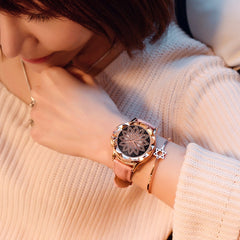 Rose Gold Luxury Crystal Watches