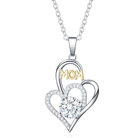 MOM Double Heart Necklace