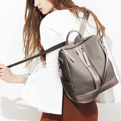 Chic Multiple Handle Nylon Backpack