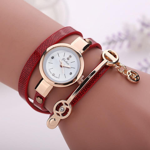 FREE Women Leather Fashion Bracelet Watches