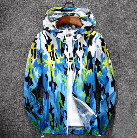 New Foldable Camouflage Hooded Waterproof Summer Jacket