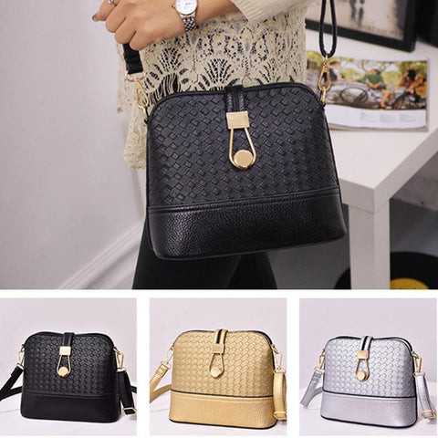 Ladies Fashion Braided Shoulder Bag - Free + Shipping