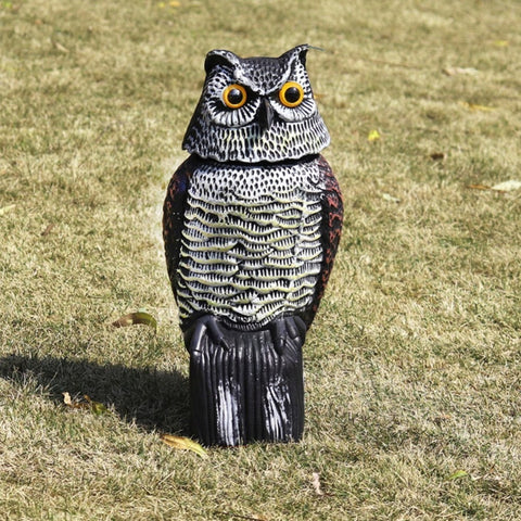 Owl Decoys Garden Yards Ornaments