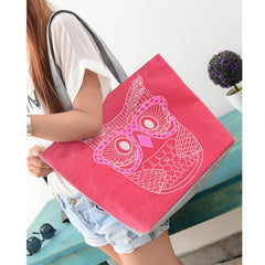 FREE Owl Beach Fashion Canvas Tote Handbag