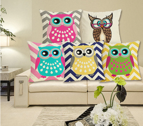 Cute Owl Pillow Covers