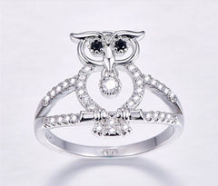 Owl Sterling Silver 925 Ring